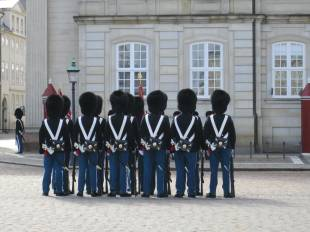 Changing of the guards at Amalienborg