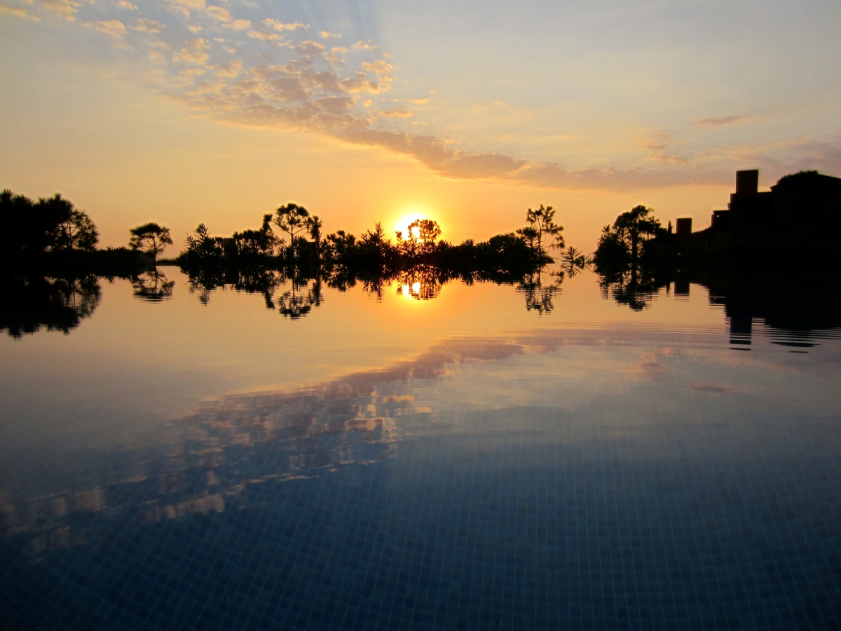 Poolside Sunset The Romanos