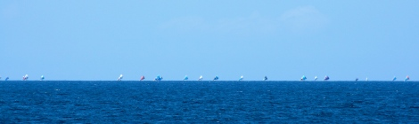 Lombok Horizon Filled With Sails