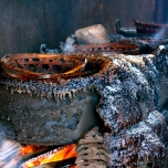 Boiling water on wood-fuelled stoves