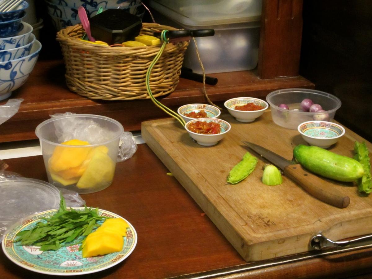 Nyonya food preparation
