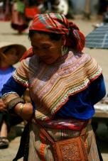 Flower Hmong dress detail