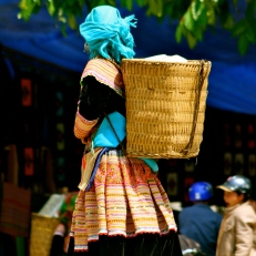 Flower Hmong basket